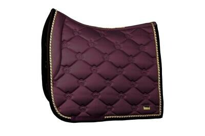 Dressage Saddle Pad, Wine, Monogram