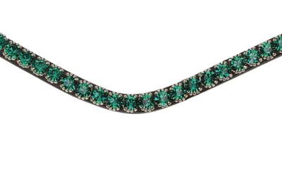 Frontriem Sleek Emerald, zwart, full