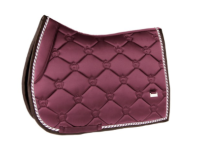 Jump Saddle Pad, Merlot, Monogram
