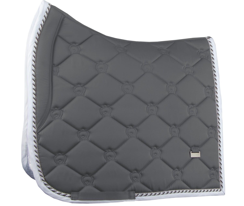Dressage Saddle Pad, Charcoal, Monogram