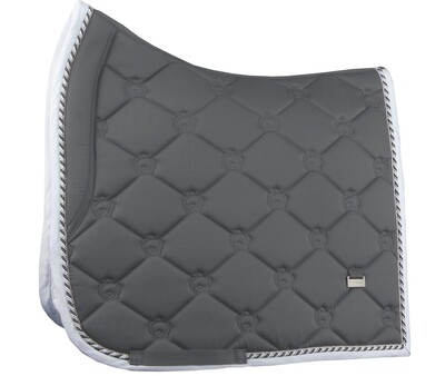 Dressage Saddle Pad, Charcoal, Monogram