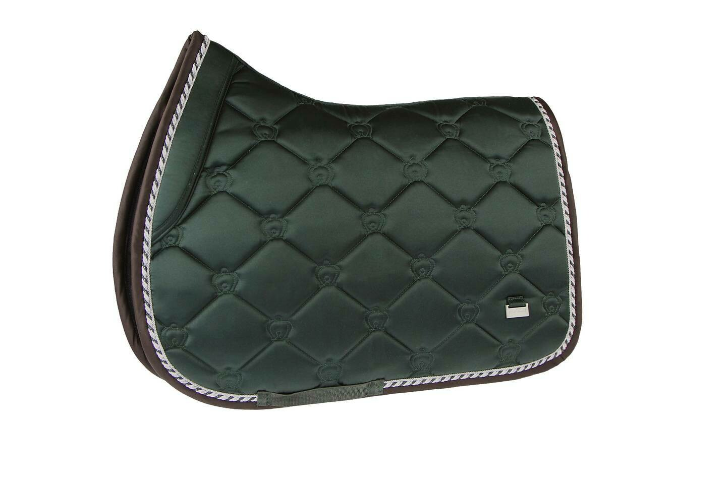 Jump Saddle Pad, Emerald, Monogram