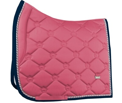 Dressage Saddle Pad, Cranberry, Monogram