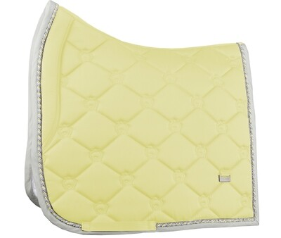 Dressage Saddle Pad, Vanilla, Monogram
