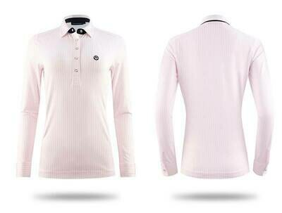 Polo shirt, June, Light Pink/White
