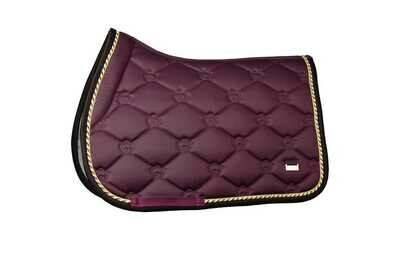 Jump Saddle Pad, Wine, Monogram