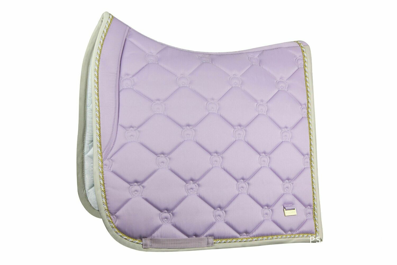 Dressage Saddle Pad, Soft Lilac, Monogram