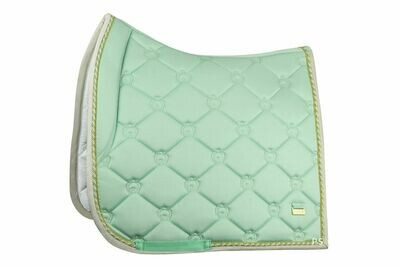 Dressage Saddle Pad, Mint Green, Monogram