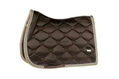 Jump Saddle Pad, Chocolate, Monogram