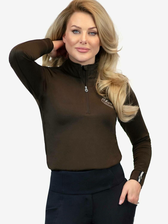 Basis shirt, Bianca, Chocolate
