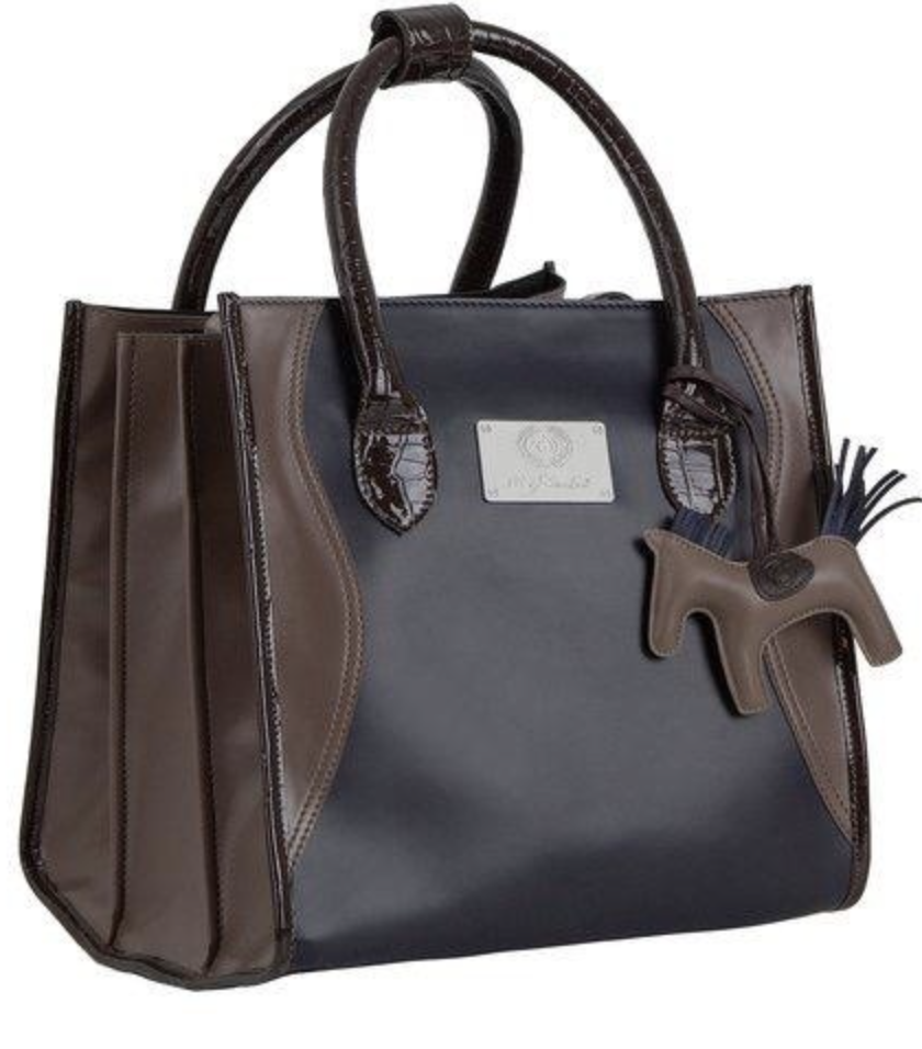 Grooming Bag, Deep Sapphire/Walnut