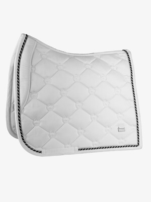 Dressage Saddle Pad, White, Monogram