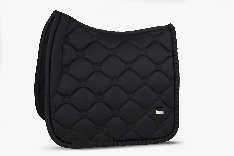 Dressage Saddle Pad, Black, Ruffle