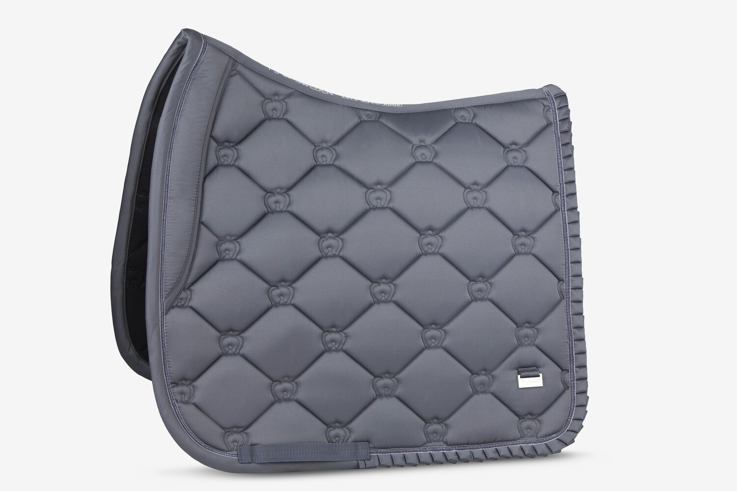 Dressage Saddle Pad, Grey, Ruffle
