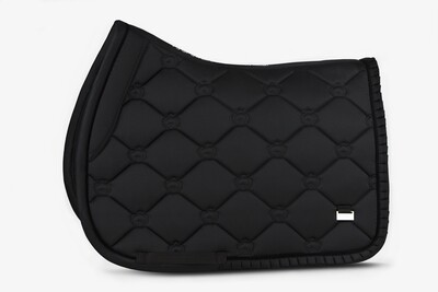 Jump Saddle Pad, Black, Ruffle