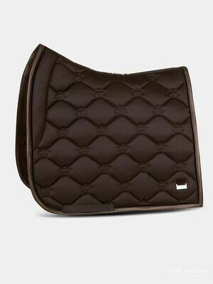 Dressage Saddle Pad, Monogram, Coffee