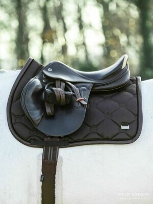 Jump Saddle Pad, Coffee, Monogram