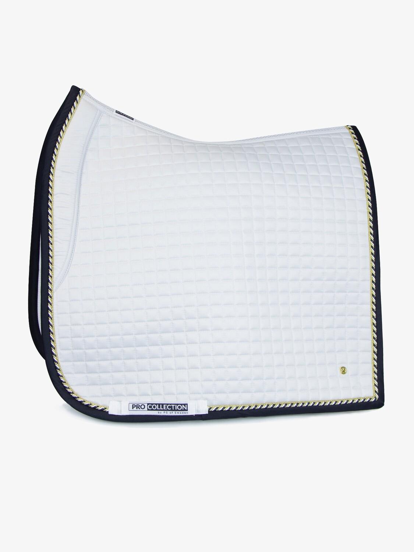 Dressage Saddle Pad, White/Black, Pro