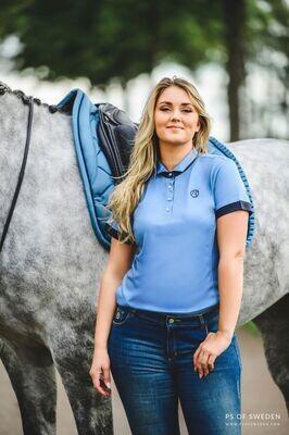 Daniella polo shirt, Light Blue