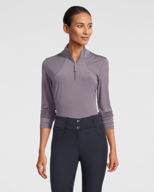 Alessandra half-zip base layer, Grey