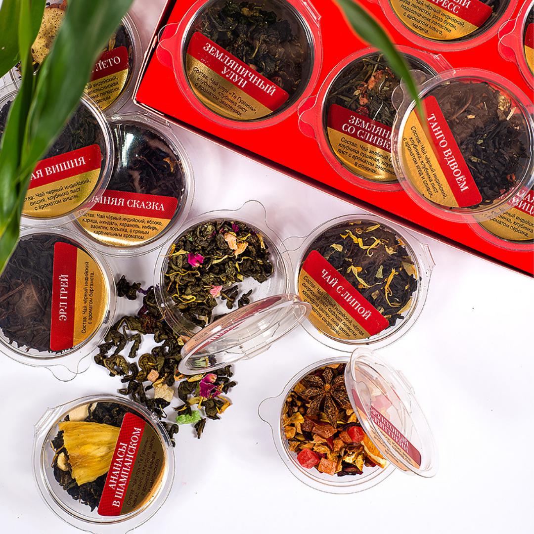 Чайная Фактория Набор 18 видов листового чая и чайного напитка, 180 гр