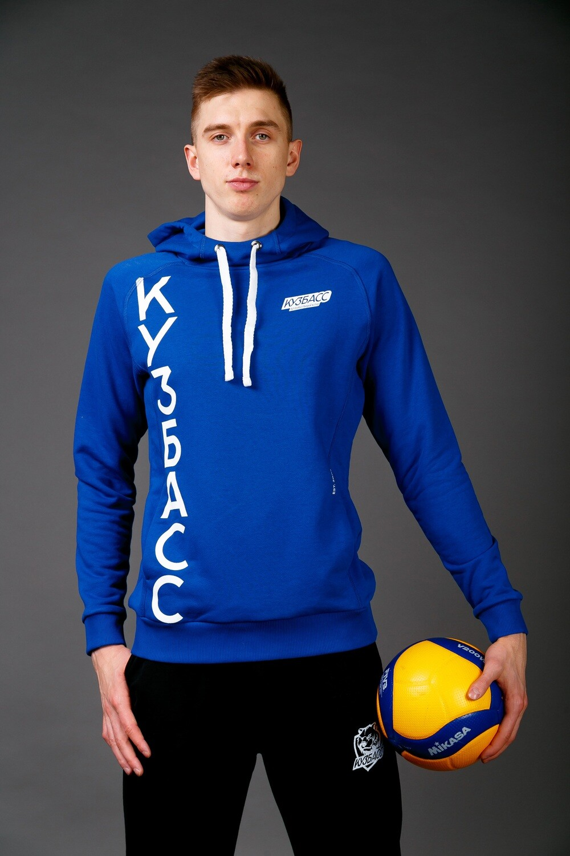 "Толстовка кенгуру ""Кузбасс"" (синяя)"