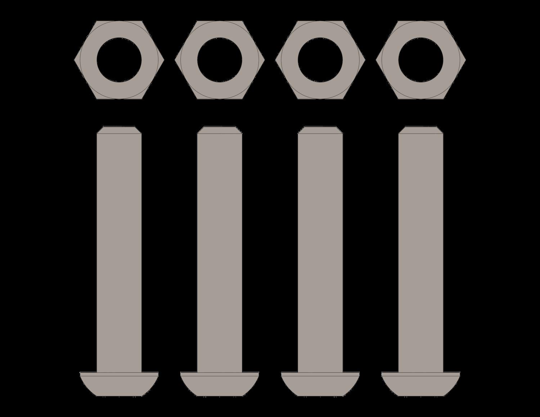 SidelinER® PRO Hardware Kit - Diagonal Supports