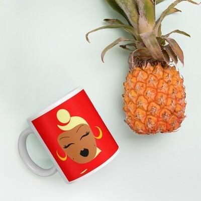 Strawberry/Banana Headwrap Mug