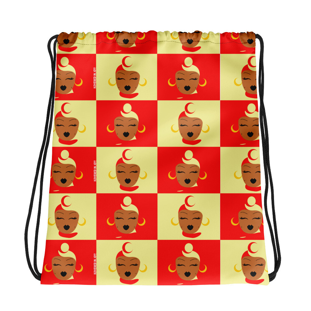 Strawberry/Banana Headwrap Drawstring bag