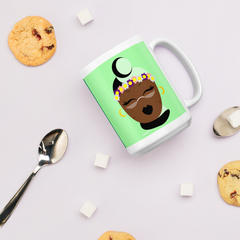 Mint Chocolate Chip Headwrap Mug