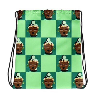 Mint Chocolate Chip Headwrap Drawstring bag