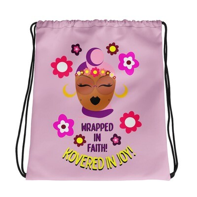 Wrapped in Faith! Drawstring bag
