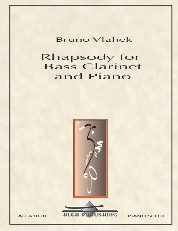 Vlahek: Rhapsody for Bass Clarinet and Piano