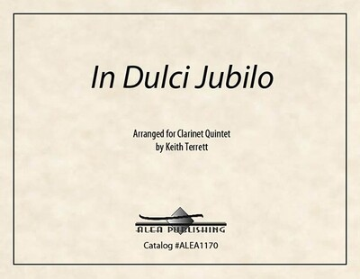 In Dulci Jubilo (Hard Copy)