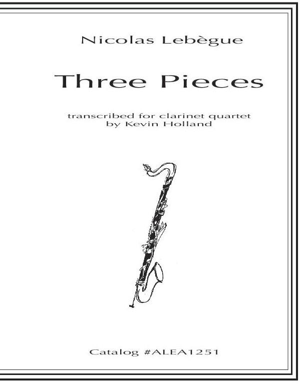Lebegue: Three Pieces for Clarinet Quartet
