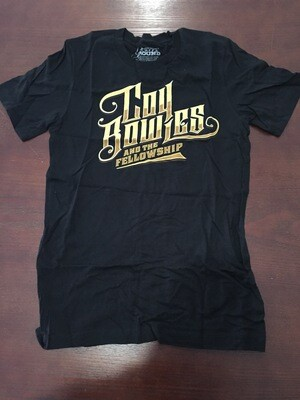 Coy Bowles And The Fellowship Black Gold Logo Adult T-Shirt