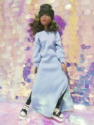Maryam Blue Abaya