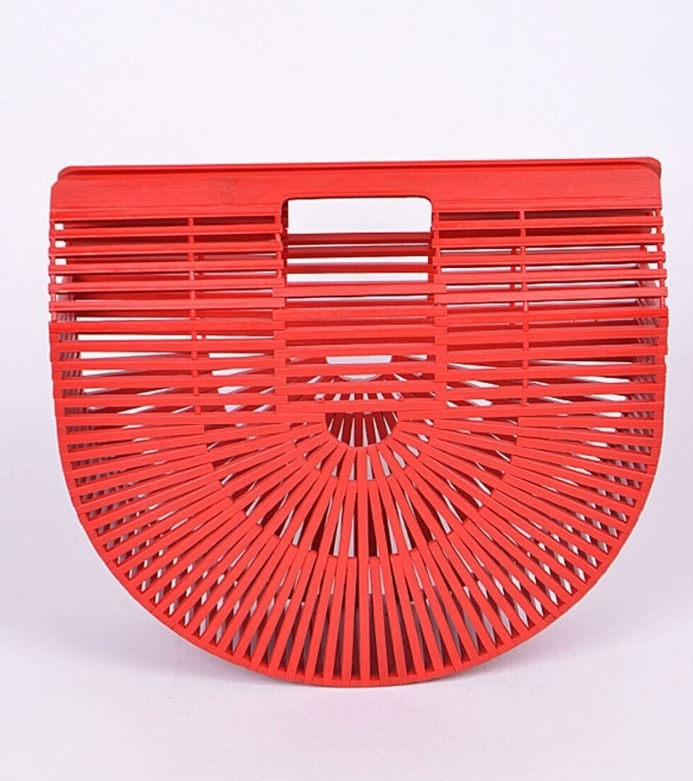 Bamboo Purse - Red