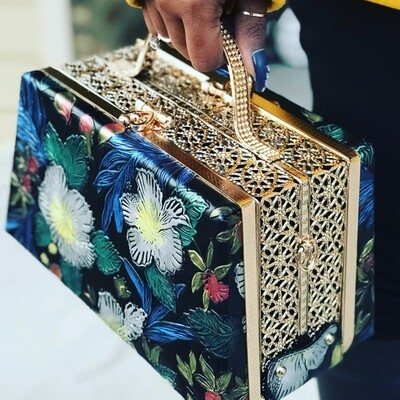 Versace Inspired Satchel - Black