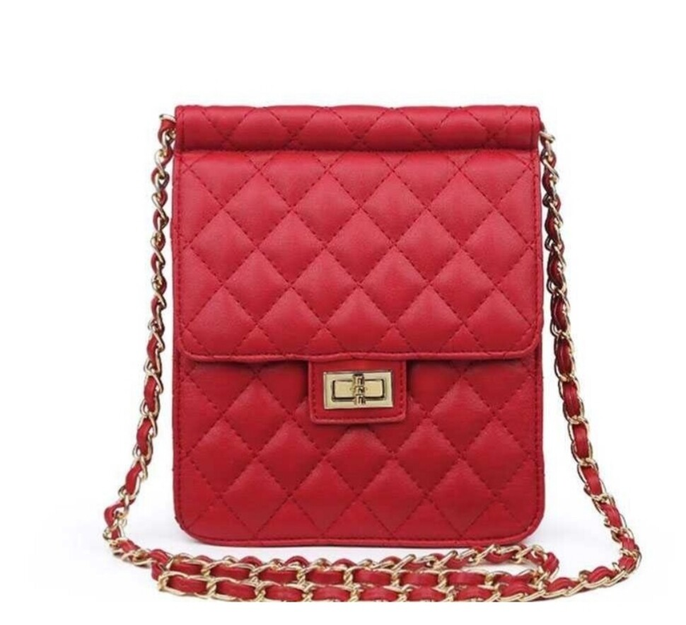 Red Quilted Crossbody