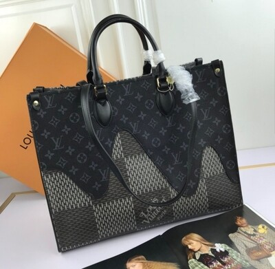LV Authentic Quality* Black and White Tote