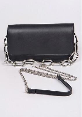 Chained Black Crossbody