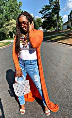 Clear Beaded Tote