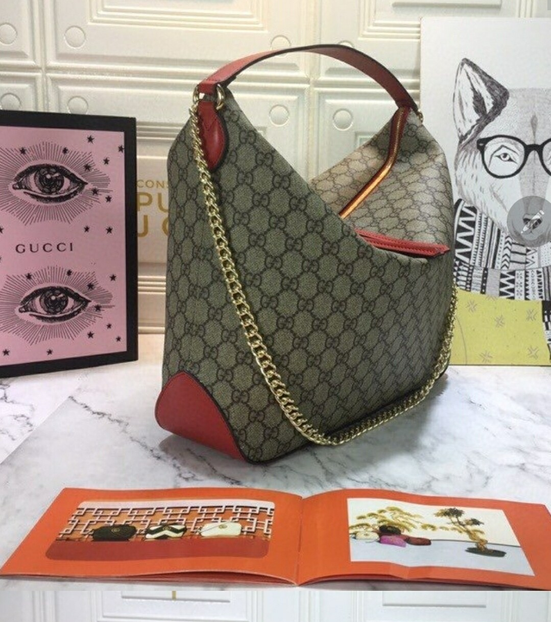 Gucci Shoulder Red *Authentic Quality*