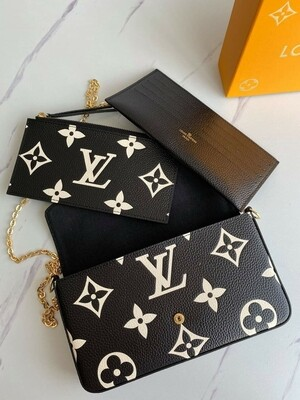 LV 3 pc Black Crossbody *Authentic Quality *
