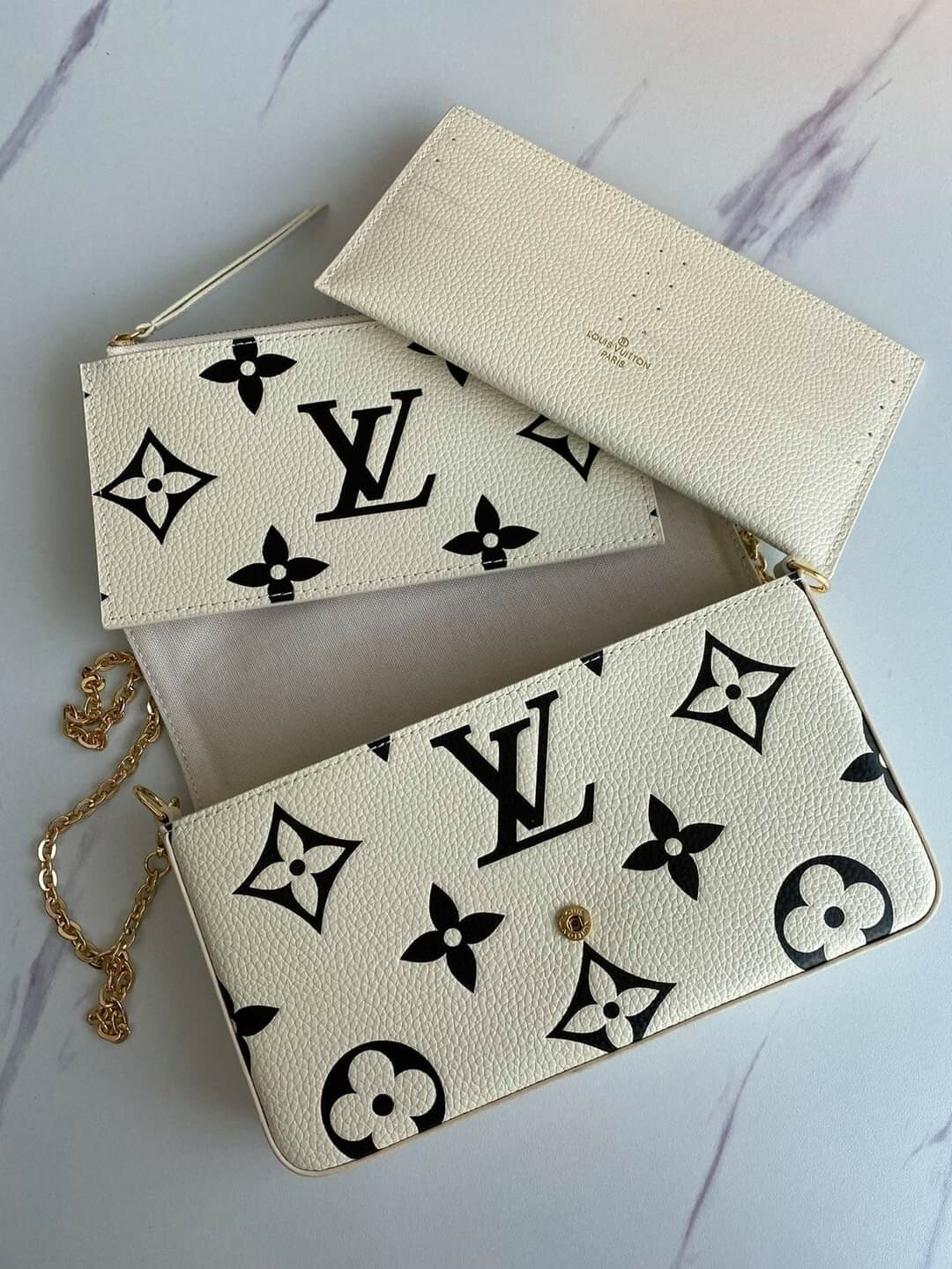 LV 3 pc White Crossbody *Authentic Quality *