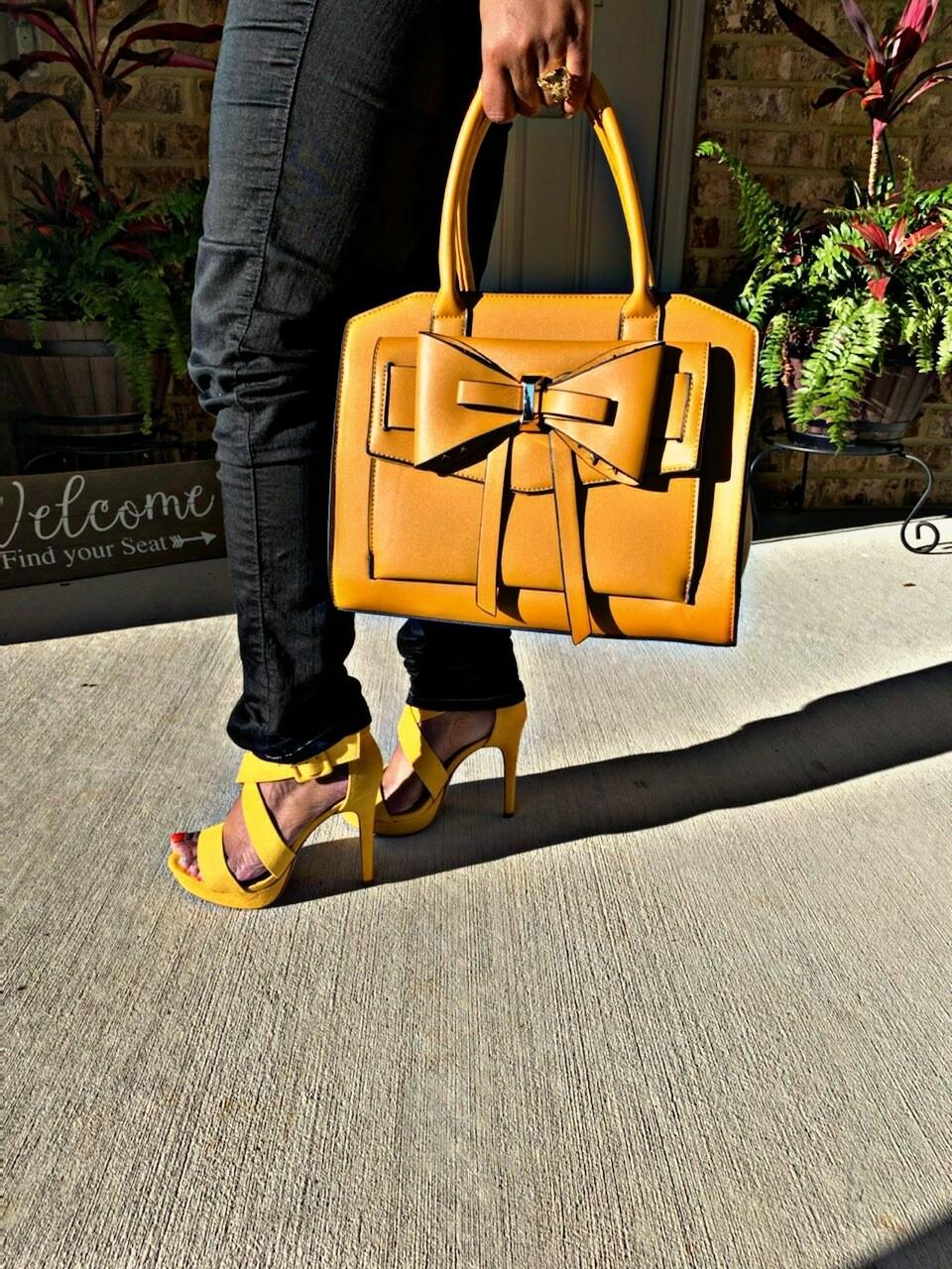 Yellow Satchel w/Wallet