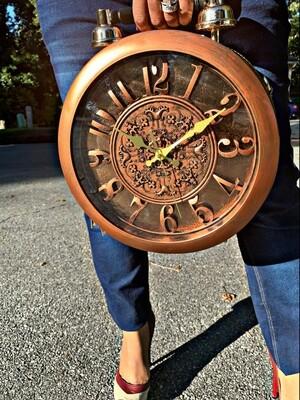 Clock Me Brown Satchel