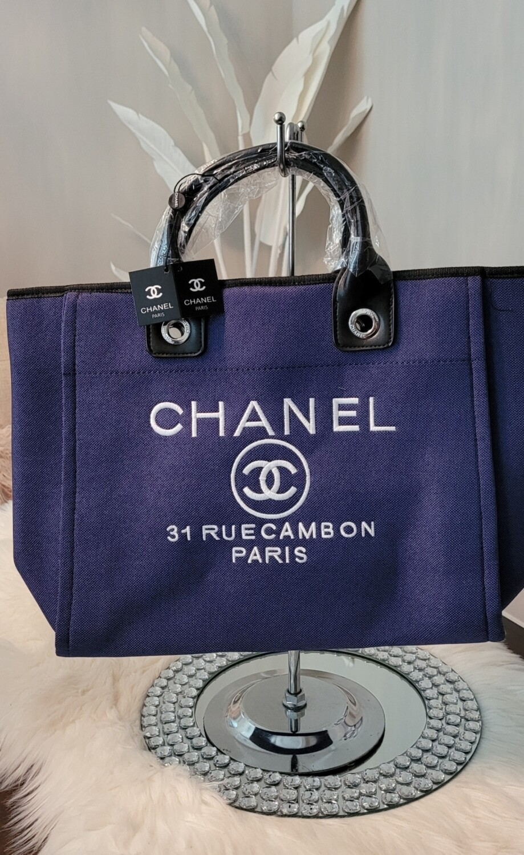 Chanel Blue Tote