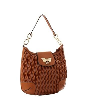 Cognac Bee Shoulder Bag